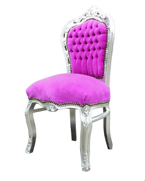 barock esszimmer stuhl pink silber st hle esszimmerst hle. Black Bedroom Furniture Sets. Home Design Ideas
