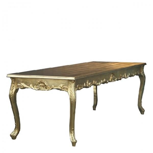 barock esstisch gold 200cm esszimmer tisch m bel antik stil esstische. Black Bedroom Furniture Sets. Home Design Ideas