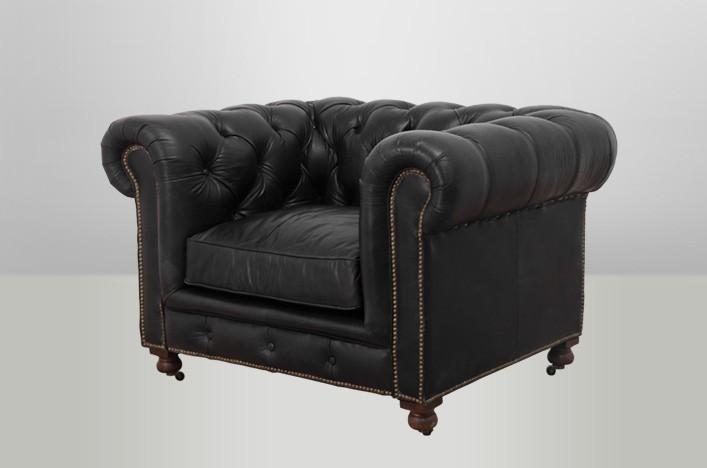 chesterfield luxus echt leder sessel vintage leder von casa padrino old saddle black club. Black Bedroom Furniture Sets. Home Design Ideas