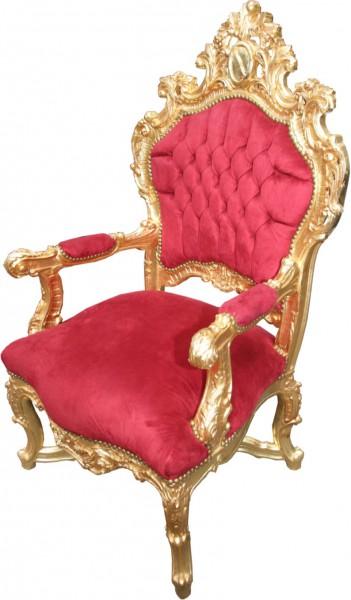Casa Padrino Baroque Throne Bordeaux Red Gold Unique