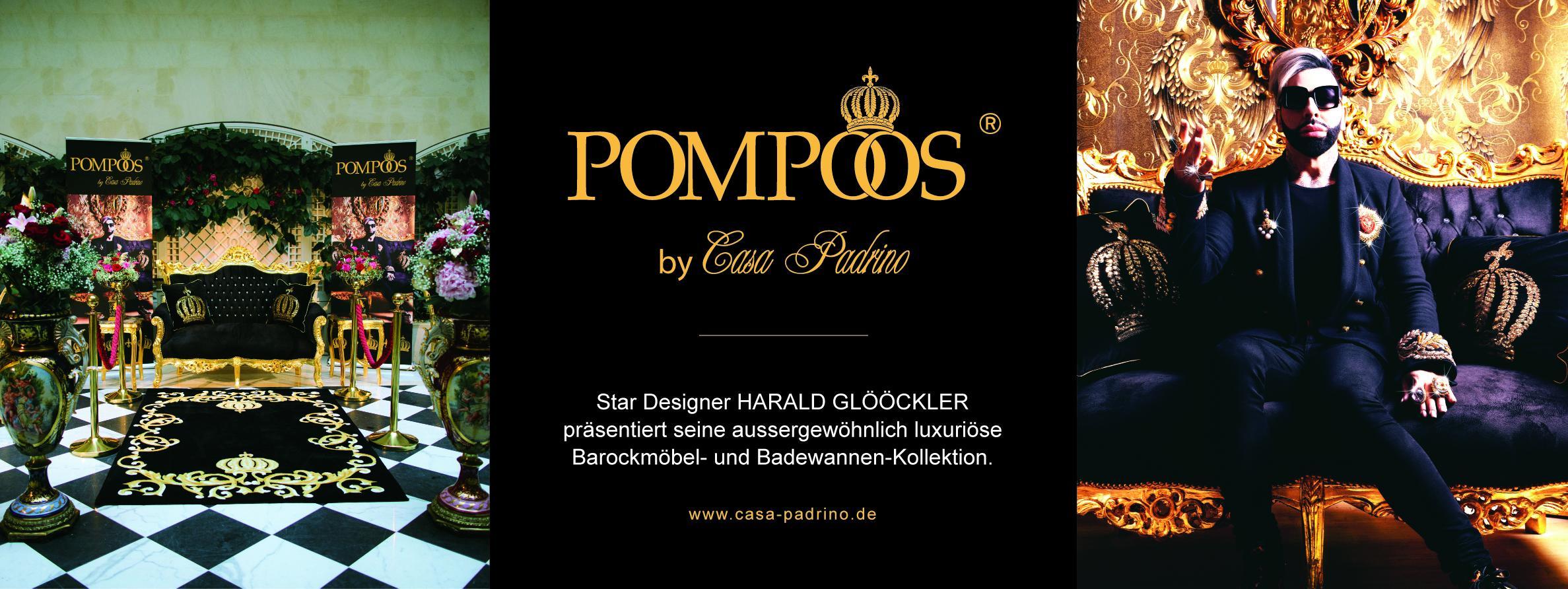 luxus designer porzellan aus der pomp s by casa padrino kollektion von harald gl ckler. Black Bedroom Furniture Sets. Home Design Ideas