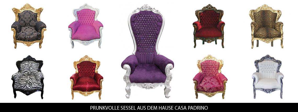 Casa Padrino De Luxus Barock Mobel Dekorationen Stuhle Sessel